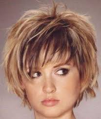 short layered hair style for full face short shaggy hairstyles for women with thick hair short