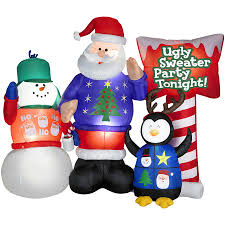shop holiday living 5 1 2 ft inflatable fabric ugly sweater party