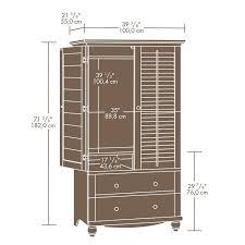 sauder furniture bookcase amazon com sauder harbor view armoire antiqued paint kitchen