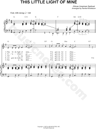 instrumental this little light of mine african american spiritual this little light of mine sheet music