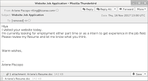 What Is The Subject For Sending A Resume Infosec Handlers Diary Blog Resume Themed Malspam Pushing Smoke