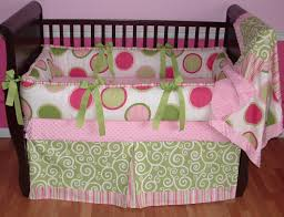 girls nursery bedding sets pink u0026 green twister crib bedding 1267 299 00 modpeapod we
