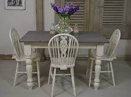 Country Dining Room Tables by Farmhouse Style In Abundance With This Country Dining Set Painted