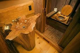 cabin bathroom ideas hmmm do i want a toilet that looks like an out house scary