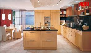 Home Interior Kitchen by Fair Design Ideas Using Rectangular Cream Wooden Tables And