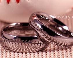 Baseball Wedding Ring by Mickey Wedding Band Etsy