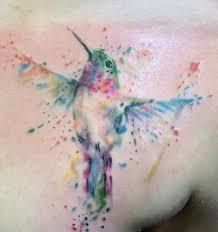 hummingbird tattoo i reaaalllyyyyy love watercolor tattoos