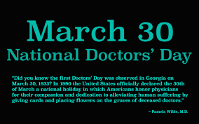 it s march 30th you hugged your doctor