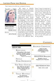 sample cover letters journalism positions professional resumes