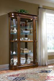 Coaster Curio Cabinet Features Beautiful Curved Glass Ends Hardwood And Veneer