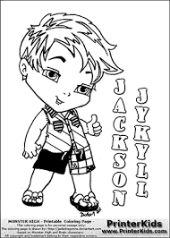 monster high chibi coloring pages monster high jackson jekyll baby chibi cute coloring page 2