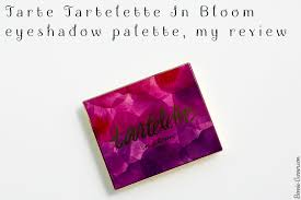 bloom tarte tartelette in bloom eyeshadow palette my review bonnie