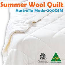 Australian Duvet Australian Made Light Weight Luxury Merino Summer Wool Quilt Duvet
