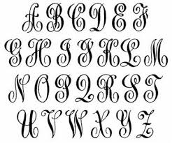 monogram letter 43 best fonts monograms images on handwriting fonts