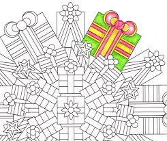 christmas present christmas mandala candyhippie coloring pages
