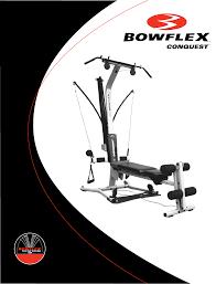 bowflex home gym conquest user guide manualsonline com