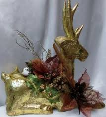 Gold Christmas Reindeer Decorations by Gold Christmas Reindeer Holiday Reindeer Christmas Centerpiece