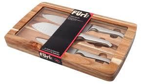 furi kitchen knives furi pro acacia japanese stainless steel 3pc knife gift set 41364