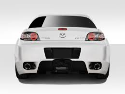 nissan 350z vs mazda rx8 mazda rx8 rear bumpers body kit super store ground effects