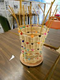 3rd craft project completed basket weaving artmuse67