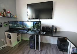 gaming computer desk desk 27 22 monitors 16jlgr awesome gaming computer desk setup 27