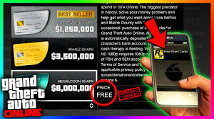 how to actually get free shark cards gta money method free
