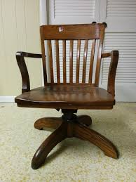 perfect vintage wood office chair all home decorations