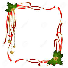 christmas ribbons vector christmas ribbons decorated frame royalty free cliparts
