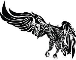 dragon tribal neck tattoo