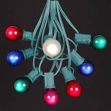Light String Christmas Tree by Clear Satin G30 Globe Round Outdoor String Light Set On White Wire