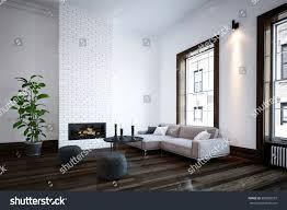 Corner Sofa In Living Room by Minimalist Living Room Interior Fire Insert Stock Illustration