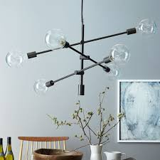 Long Hanging Chandeliers Mobile Chandelier Large West Elm