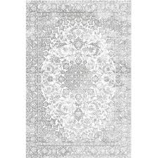 White And Gray Rugs Distressed Faded Medallion Gray Rug U2013 Authenturkish