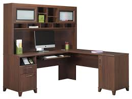 Realspace Magellan Desk Office Beautiful Mainstays L Shaped Desk With Hutch In Brown