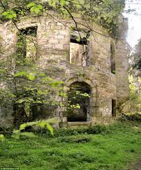 crumbling ruins of an 800 year old castle that was bombed by the