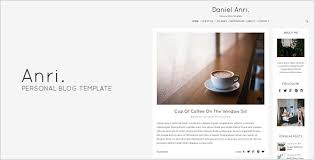 anri personal blog template website themes