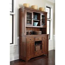 dining room hutch and buffet signature designs by ashley chimerin medium brown dining room
