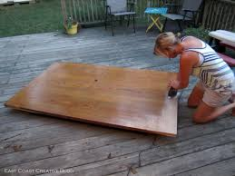 Refinish Dining Room Table Refinished Dining Room Table Furniture Makeover East Coast