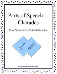 charades parts of speech nouns verbs adjectives adverbs