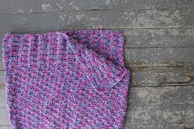the feisty redhead crochet mermaid tail blanket
