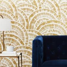 rounds gold white fan wallpaper