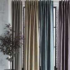 Silk Velvet Curtains Cotton Luster Velvet Curtain Platinum West Elm