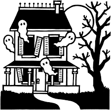 Halloween House Coloring Pages by Halloween Clipart