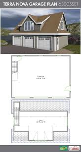terra nova garage plan 36 u0027 x 26 u0027 3 car garage 570 sq ft bonus