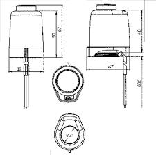 komfort underfloor heating actuator 30mm thread underfloor parts