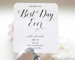 Wedding Program On A Fan Wedding Invitations Etsy