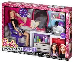 Barbie Kitchen Set For Kids Barbie Sparkle Style Salon Doll And Playset Walmart Com