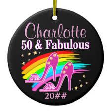 happy 50th birthday ornaments keepsake ornaments zazzle