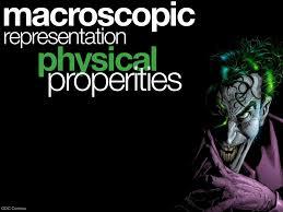 macroscopicrepresentation physical properities dc comics