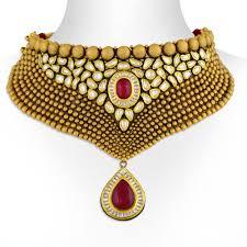 gold choker necklace sets images Necklace gold kundan choker necklace set jpg